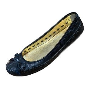 Coach Payton Black Leather Ballet Flats Size 7B